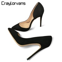Craylorvans Top Quality Two Piece Women Pumps Thin High Heels Sexy Fashion Stilettos I