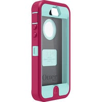 Pink & Teal OtterBox Defender Case for Apple iPhone 5 ~ Holster not included