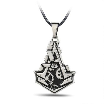 HSIC Dropshipping Unique Design Assassins Creed Necklace & Pendants Metal Alloy Charm Men Necklace Rope Chain 10834
