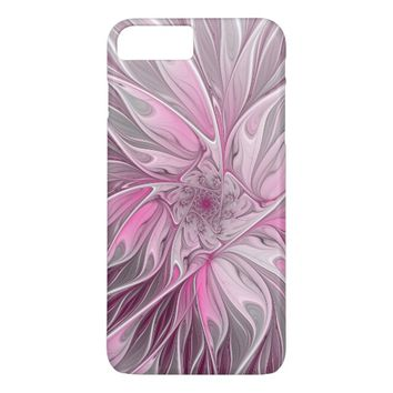 Fractal Pink Flower Dream, floral Fantasy Pattern iPhone 8 Plus/7 Plus Case