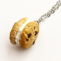 Chocolate Chip Cookie Ice Cream Sandwich Necklace