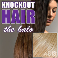 "Halo Hair Extensions 20"" Light Blonde (#613) - Human No Clip In Flip In Couture by Knockout Hair"
