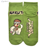 Hot Anime Naruto Printed Short Socks New Unisex Cute Low Cut Casual Ankle Socks Men Women