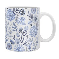 Pimlada Phuapradit Blue and white floral 3 Coffee Mug