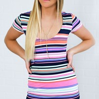take me back striped dress - ShopRiffraff.com