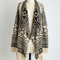 Boho Long Long Sleeve Cuddly Capabilities Cardigan by ModCloth