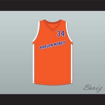 Big Fella 34 Harlem Money Basketball Jersey Uncle Drew