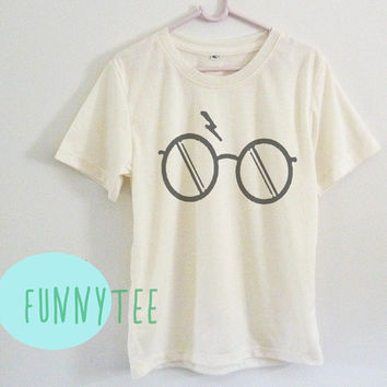 Crew neck sweatshirt Harry Potter eyeglasses tshirt Short sleeve tee shirts+off white or grey toddlers shirt +kids girl boy clothes