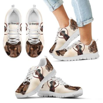 Cute Chocolate Labrador Retriever Print Running Shoes For Kids- Free Shipping
