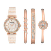 Anne Klein Rose Gold 12/2274rgst Women's Watch Set