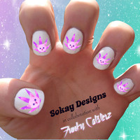Pot Leaf Cat Nail Art - Sokay Designs x Funky Catsterz