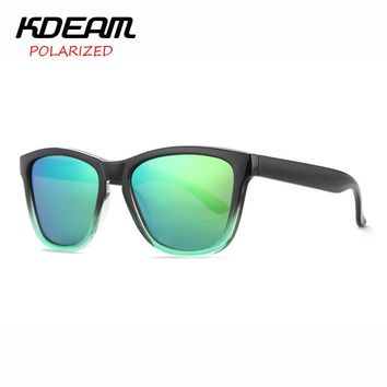 KDEAM 2017 New Frog Style Polarized Sunglasses Men Reflective Coating Sun Glasses Women oculos de sol All Fit Size Shades KD071
