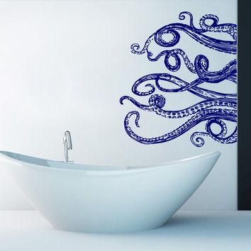 Tentacles Wall Decal Vinyl Octopus Decals Stickers Animals Bathroom Decor SM67