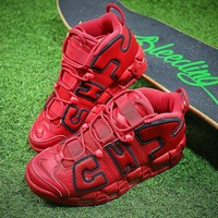 Nike Air More Uptempo QS CHI Retro Red Basketball Shoes AJ3138-600 - Best Online Sale
