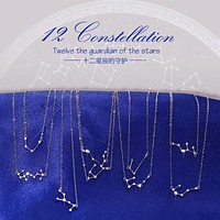 Star Sign 925-sterling-silver Rhinestone Guardian Necklaces & Pendants | 12 Constellations Sterling-silver-jewelry Accessories