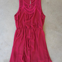 Autumn Raspberry Party Dress [7518] - $42.00 : Feminine, Bohemian, & Vintage Inspired Clothing at Affordable Prices, deloom