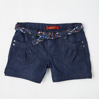 Island in the Fun Shorts in Dark Wash | Mod Retro Vintage Shorts | ModCloth.com