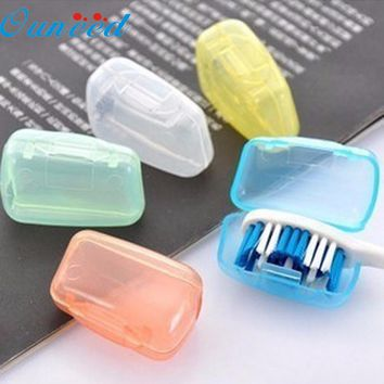 5 Piece Set Portable Travel Toothbrush Cover Bathroom Storage Wash Brush Cap Case Box Levert Dropship