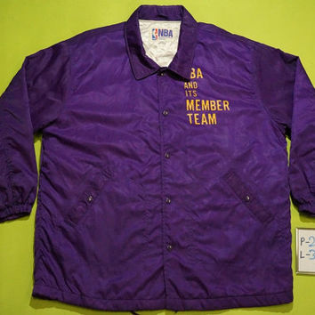 30% christmas sale Vintage 80s/90s Los Angeles Lakers NBA Pacific Division satin jacket / starters /
