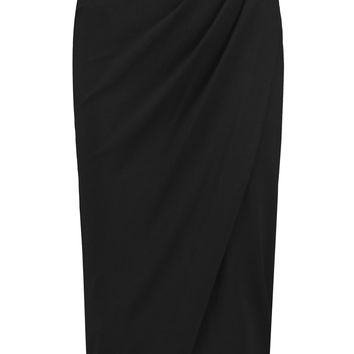 Iris and Ink Amber wrap-effect ponte-jersey skirt – 0% at THE OUTNET.COM
