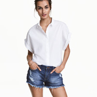 Short Cotton Blouse - from H&M