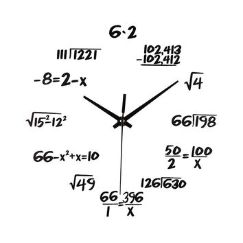 Silent Math Equations Polytechnic Digital Wall Clock