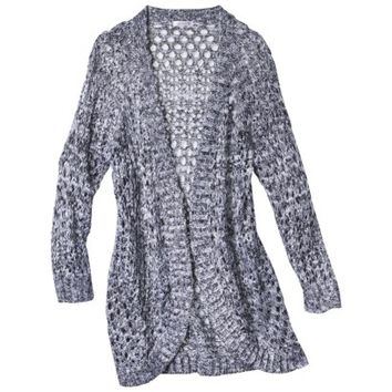 Xhilaration® Junior's Marled Open Stitched Cardigan - Assorted Colors