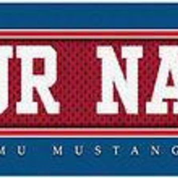 College-NCAA Jersey Stitch Print SMU Mustangs  Gift it!