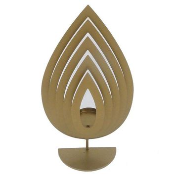 Traditional Style Metal Tealight Candle Holder, Gold, Large