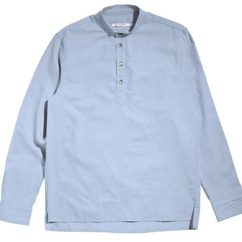Light Blue Popover Shirt