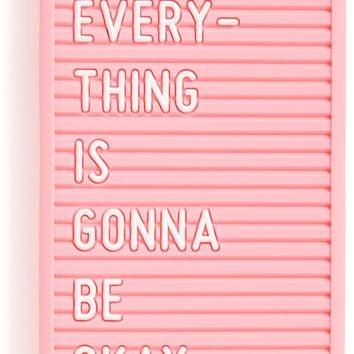 Everything is Gonna Be Okay Letter Board iPhone Cell Phone Case by Bando - Fits iPhone 7 & 8