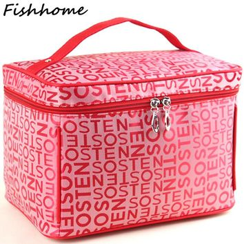Professional Large Capacity Cosmetic Bag Extra Big High Quality Women Waterproof Travel Necessaire Toiletry Make up Bag SZL53