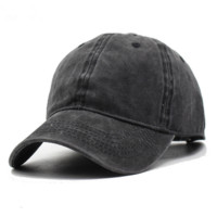 Creative Vintage Washed Cotton Adjustable Dad Hat Baseball Cap