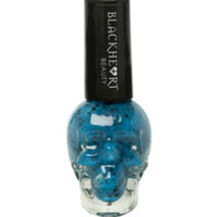 Blackheart Blue & Black Glitter Nail Polish