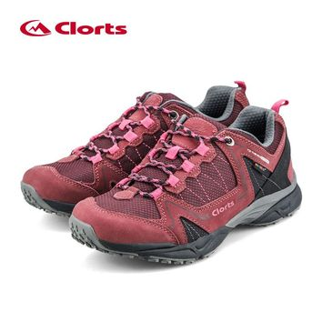 Clorts Hiking Shoes Woman Waterproof Cow Suede Hiking Boots Uneebtex Mountains Shoes for Women 6270726