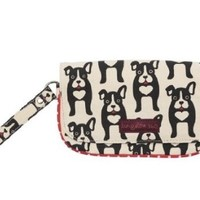 Bungalow360 Vegan Wristlet - Boston Terrier