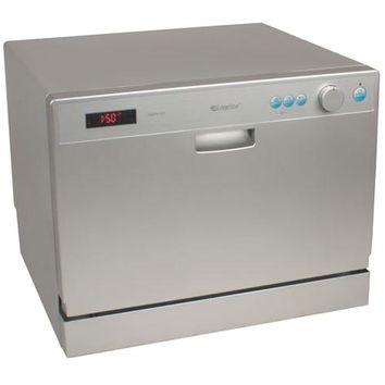 EdgeStar - 6 Place Setting Countertop Dishwasher - Silver
