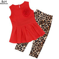 Baby Clothing Sets, Retail summer Cute Casual T-Shirt pants 2 pcs children