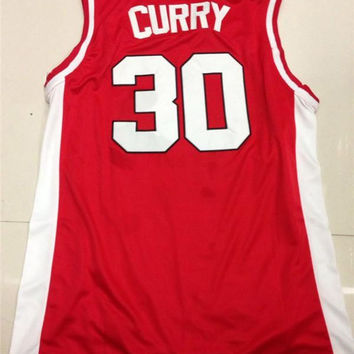 Stephen Curry Jersey Top Quality 30 Steph Curry Davidson Wildcats College City Lights Throwback Basketball Jersey
