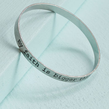 Altar'd State Faith Bigger Than Fear Bangle Bracelet - Bracelets - Jewelry