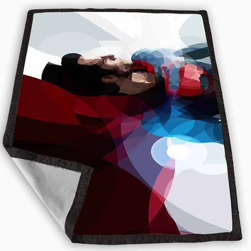 Superman Man Of Steel Painting Blanket for Kids Blanket, Fleece Blanket Cute and Awesome Blanket for your bedding, Blanket fleece **