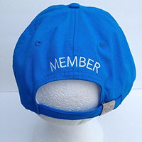 Disney Mickey Mouse Vacation Club Member Adjustable Aqua Blue Cap Hat
