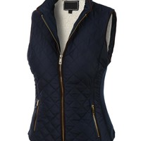 LE3NO Womens Lightweight Quilted Puffer Jacket Vest with Pockets Day-First™