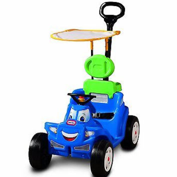 2 in 1 Ride Along Kid Baby Toddler Pretend Play Outdoors Buggy Boy Car Push Kids