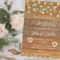 I do BBQ party invitation - I do BBQ party - Bbq engagement party invitation - Bbq couples shower - PRINTABLE - Cookout Invitation