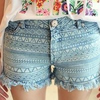tourtown — Vintage geometric shorts