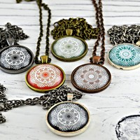 Vintage Lace Pendant Necklaces