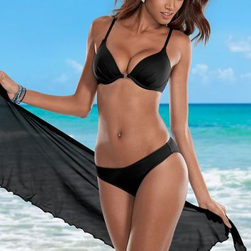 Black Beauty Enhancer Push Up Bra Bikini | VENUS