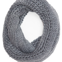 Xena Knit Infinity Scarf - Grey - One Size / Grey
