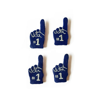 Foam Hand Magnets - Polymer Clay Magnet - Kitchen Magnets - Foam Finger Magnet - Sports Magnet - Football Magnet - Cheer Magnet - Fan Magnet